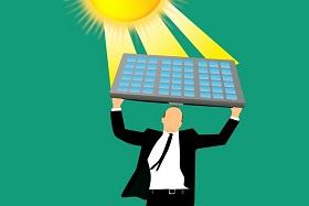Mini PV Anlage Sonne
